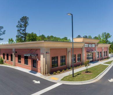 Aerial view 2080 Newnan Crossing Blvd medical office building in Newnan, GA.