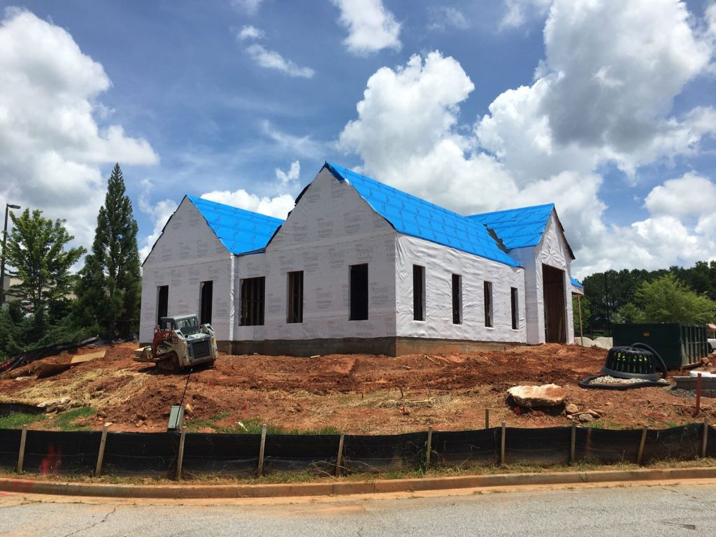 Construction of dental office in Lexington Park, Peachtree City, GA.