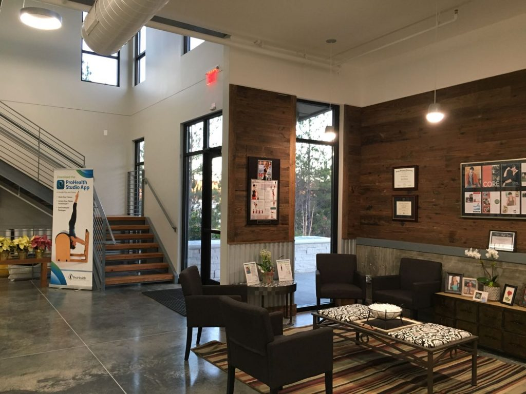 Waiting room in Prospirian International Wellbeing Training Center in Peachtree City, GA.