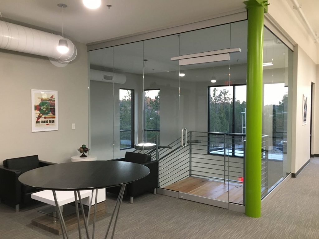 Second floor waiting room and office area in Prospirian International Wellbeing Training Center in Peachtree City, GA.