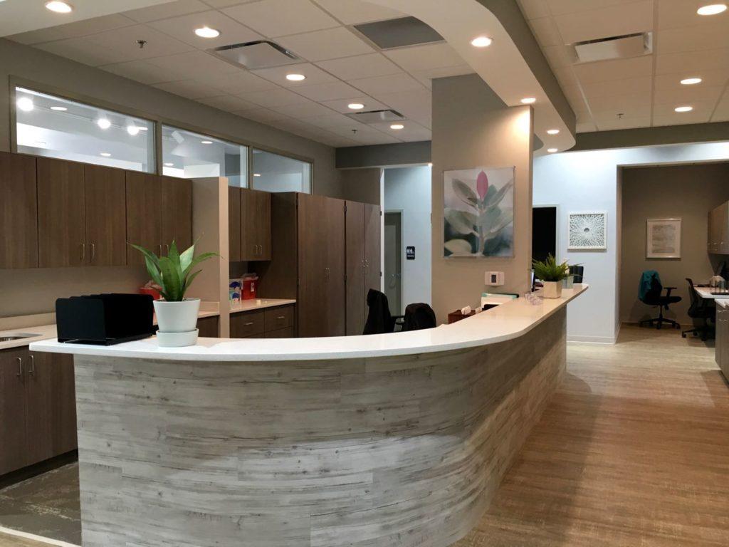 Interior area in the Summit Urgent Care Peachtree City, GA location.