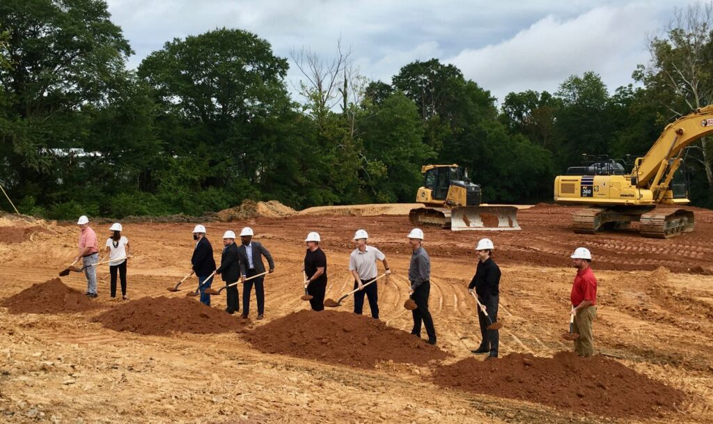 Project Team at Groundbreaking for Bain Dental Group Villa Rica, GA headquarters facility.