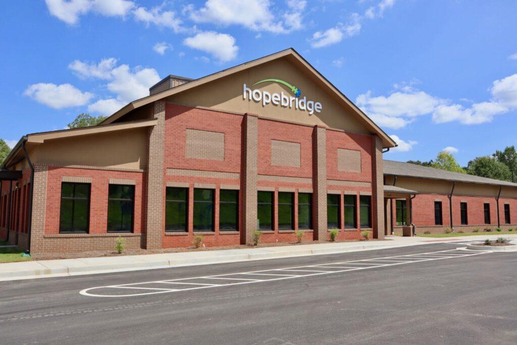 Exterior of Hopebridge Autism Therapy Center in Newnan, GA.