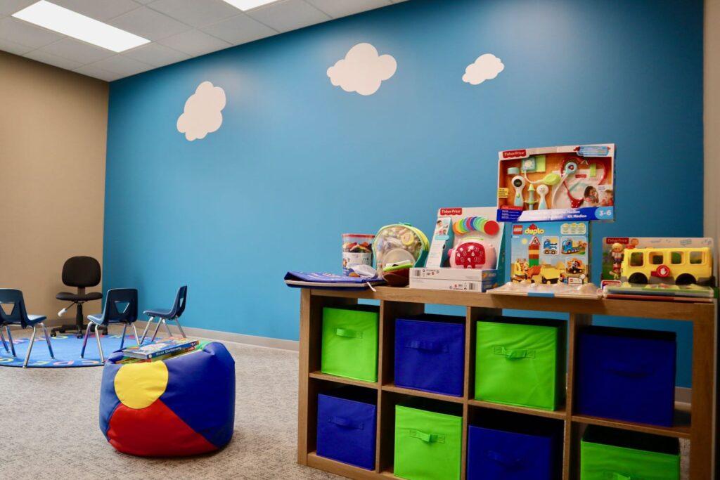Interior of Hopebridge Autism Therapy Center in Newnan, GA.