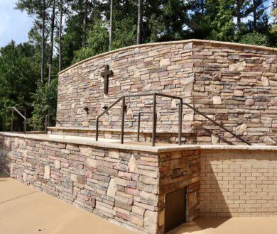 Outdoor baptistry for Dogwood Church in Tyrone, GA.