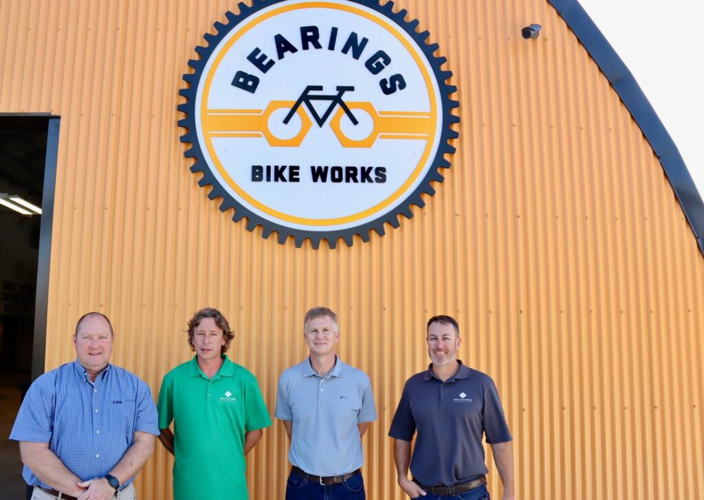 Southtree Commercial Construction Team at Bearings Bike Works.