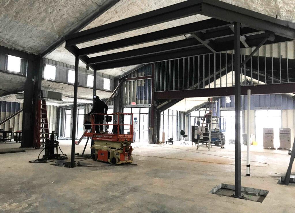 Interior construction of New Beginnings Community Center in Fayetteville, GA.