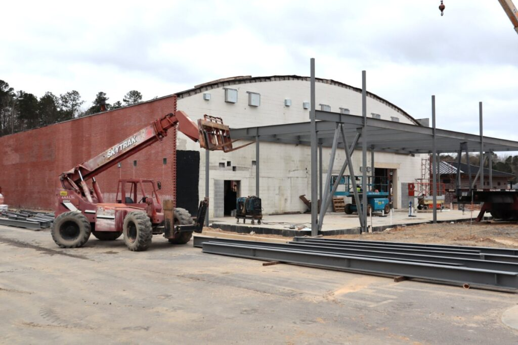 Adding Brick and Steel to Fayetteville Event Center