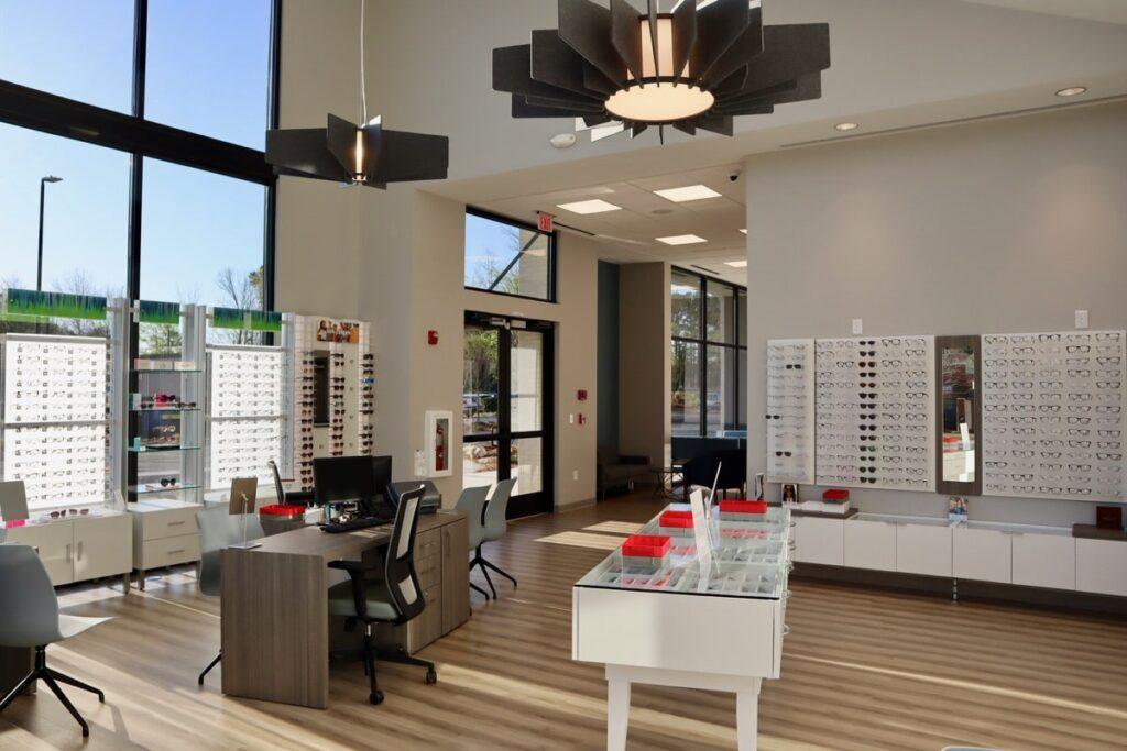 Jeffries Eye Care office building in Newnan, GA interior.