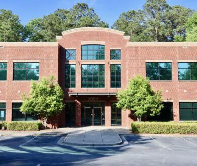 2002 Commerce Drive brick office building in Peachtree City, GA.