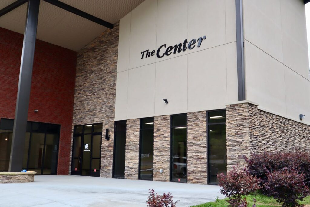 Front facade on New Beginnings South Metro Community Center.