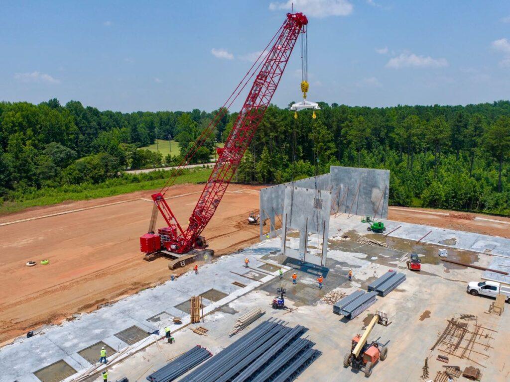 Coweta Business Center Tilt Panels Installation, Newnan, GA.